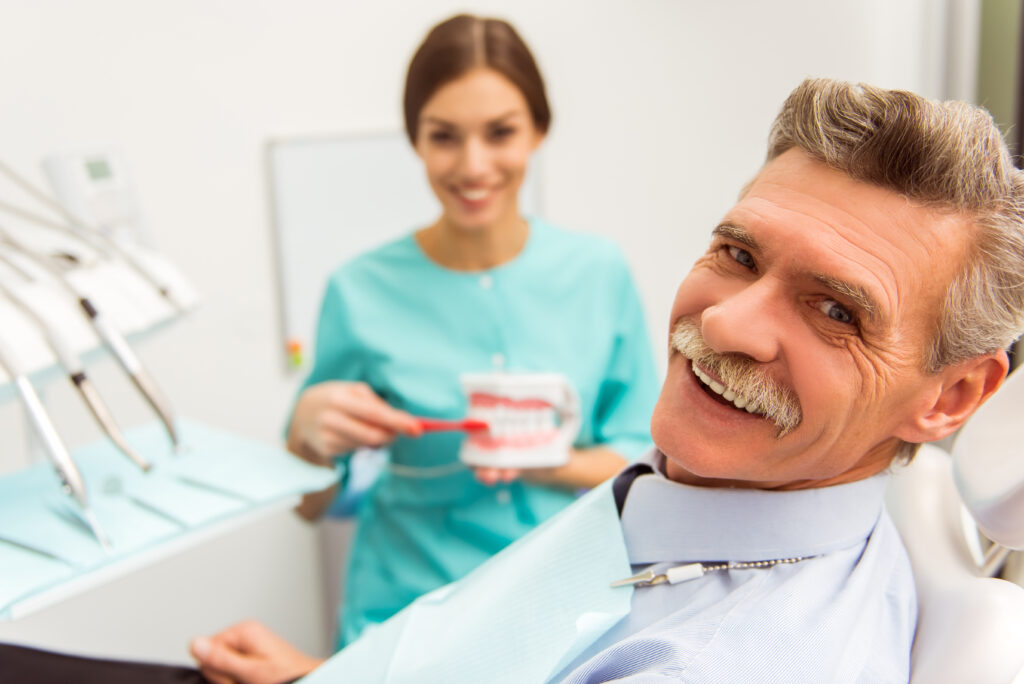 dental patient getting dentures